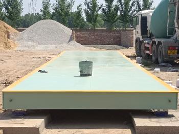 濮阳台前何庄混凝土拌和站100吨地磅