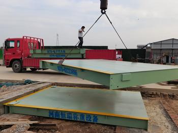 中铁七局伊滨区龙郜佳苑项目120吨地磅